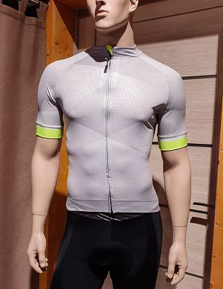 Велоджерси с коротким рукавом FUNKIERBIKE Piacenza Men Pro SS Jersey Grey/Yellow